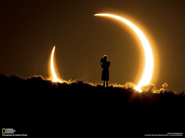 Eclipse Solar Anular registrado no Novo México, EUA. Créditos: National Geographic / Coleen Pinski