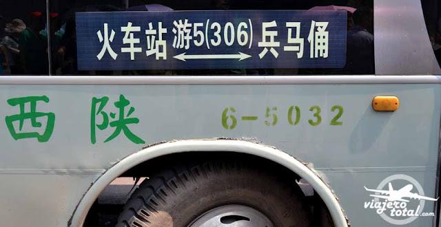 Autobús 306 hasta los Guerreros de Terracota de Xi'an