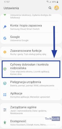 Ustawienia w One UI 2