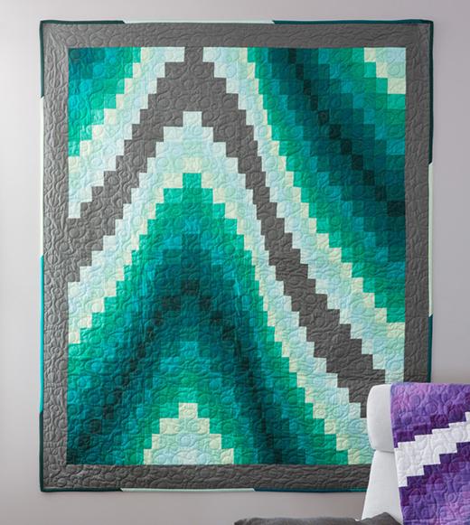 Jenny's Bargello Quilt Free Tutorial