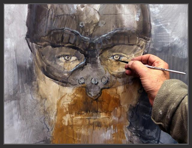 VIKINGOS-ARTE-RETRATOS-GUERREROS-MISTICOS-FOTOS-PINTANDO-ARTISTA-PINTOR-ERNEST DESCALS