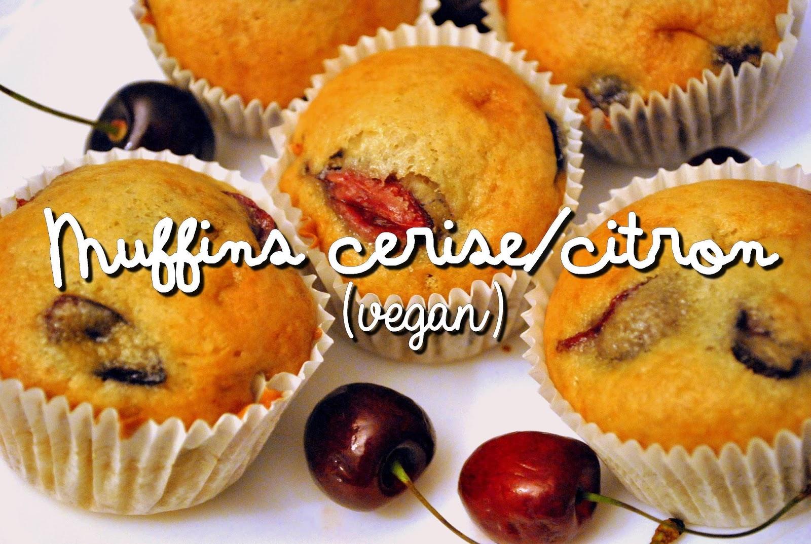 Muffin vegan cerise citron
