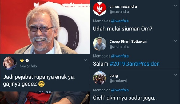 Iwan Fals Ngetwit Begini, Warganet: Udah mulai siuman Om?