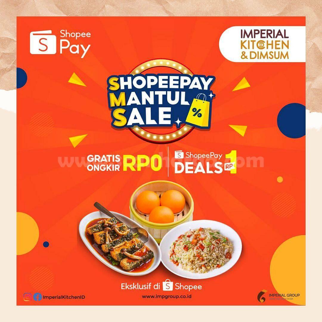 THE YUMZ ShopeePay Mantul Sale! Promo e-VOUCHER CASHBACK hanya Rp. 1,-