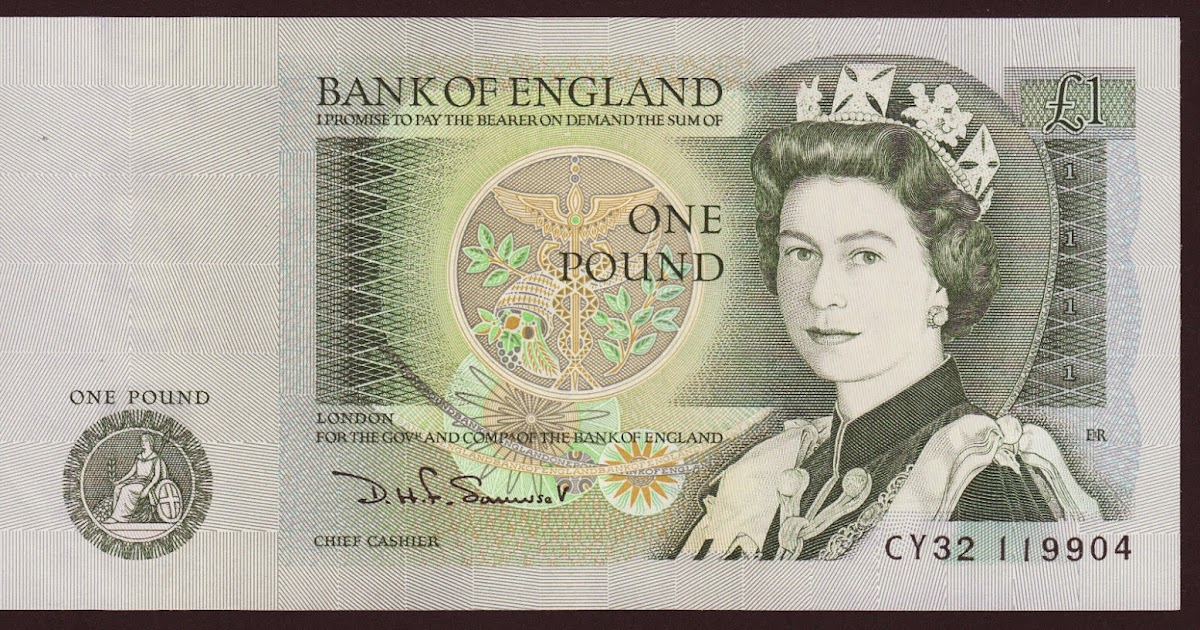 One Pound Note With Isaac Newton Bank Of England World