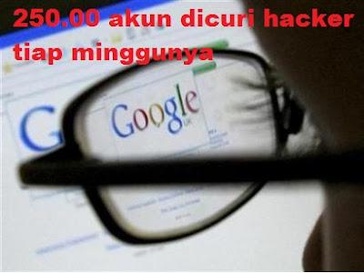 Penelitian Terbaru Google : Hacker Mencuri Hampir 250.000 Akun Setiap Minggunya