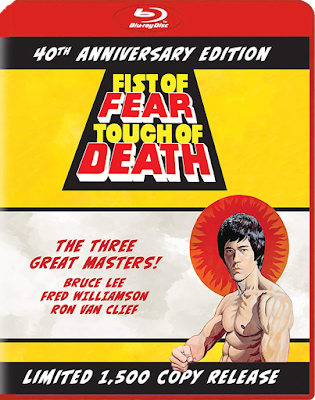 Cover art for The Film Detective's 40th Anniversary Limited Edition of FIST OF FEAR, TOUCH OF DEATH!