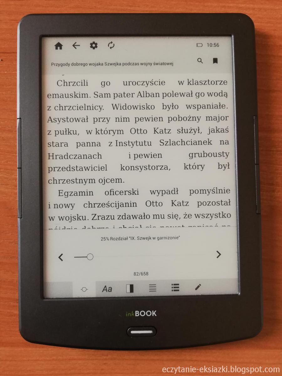 InkBOOK Classic 2 - ustawienia ebooka