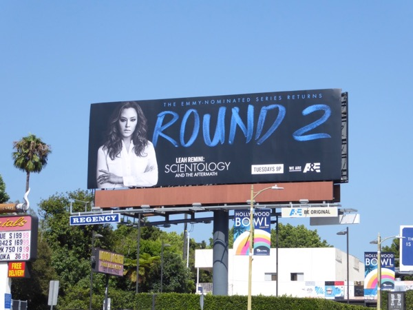 Leah Remini Scientology season 2 billboard