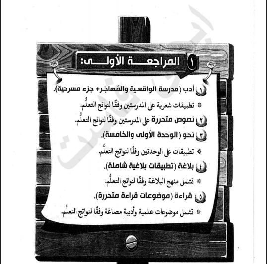 مراجعة ليلة الامتحان فى اللغة العربية للصف الثالث الثانوى 2021 للاستاذ/ رضا الفاروق