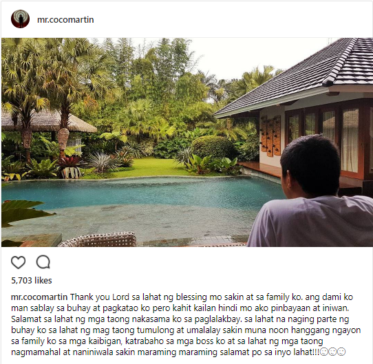 Coco Martin reflects on his birthday