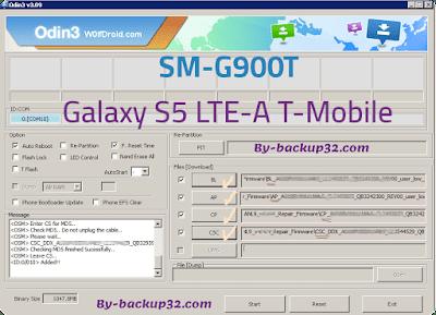 سوفت وير هاتف Galaxy S5 LTE-A T-Mobile موديل SM-G900T روم الاصلاح 4 ملفات تحميل مباشر