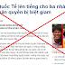 Xuyên tạc trắng trợn về nhân quyền Việt Nam – Hãy cảnh giác