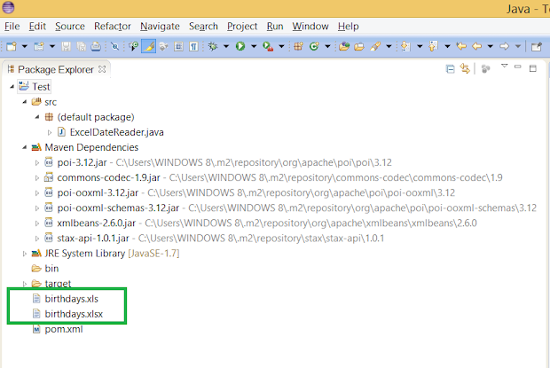 Apache POI Example to read XLSX file in Java