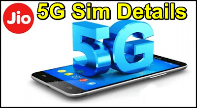 Jio 5G Sim Details
