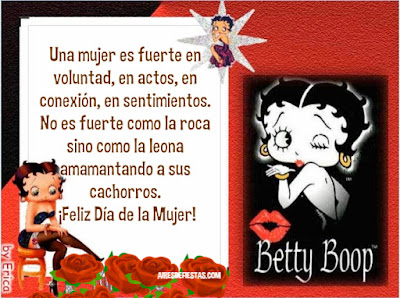 Día de la Mujer! Imágenes con Betty Boop  internacional de la mujer