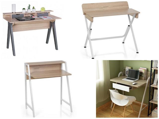 Mesas de escritorio tipo pupitre