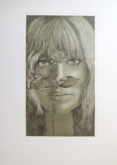 S. M. Félez artista surrealista grabado y agafuerte mujer