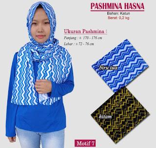 Pashmina monochrome murah bergaya modern dan trendy-hasna 7