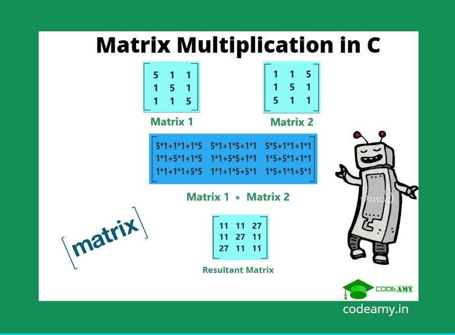 matrix multiplication in C