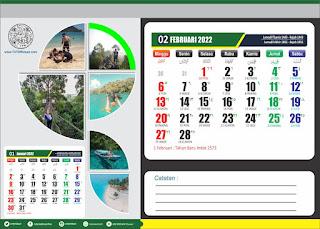 Free Desain Kalender Duduk 2022 PSD