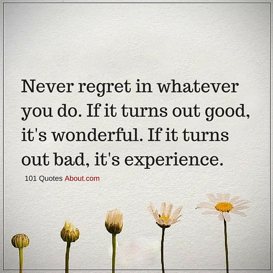 """Regret Quotes"""