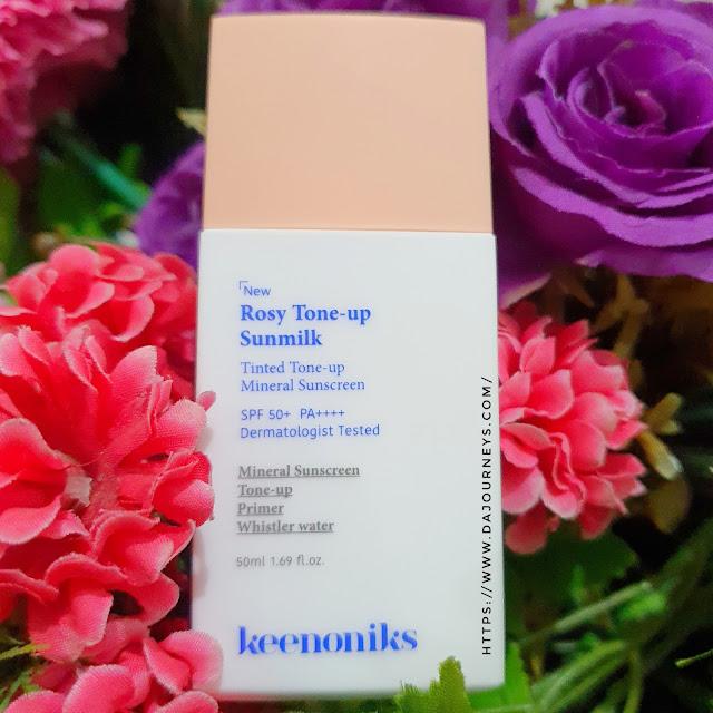 Review KEENONIKS Rosy Tone-up Sunmilk SPF 50+ PA++++