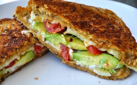 Avocado Tomato Grilled Cheese Sandwich Recipe
