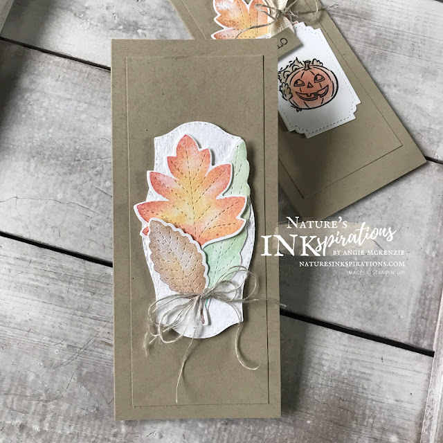 By Angie McKenzie for the Third Thursdays Blog Hop; Click READ or VISIT to go to my blog for details! Featuring the Love of Leaves and Have A Hoot Bundles from the Stampin' Up! Aug-Dec 2020 Mini Catalog for creating seasonal mini slim line cards; #leaves #naturesinkspirations #seasonalcards #nature #loveofleavesbundle #haveahootbundle #freeasabirdstampset #linenthread #autumnhues #fallcards #thankyoucards #stampinup #makingotherssmileonecreationatatime