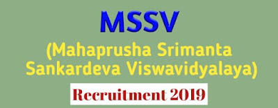 MSSV Recruitment 2019 Assam Job News । Sankardev University Nagaon Recruitment 2019