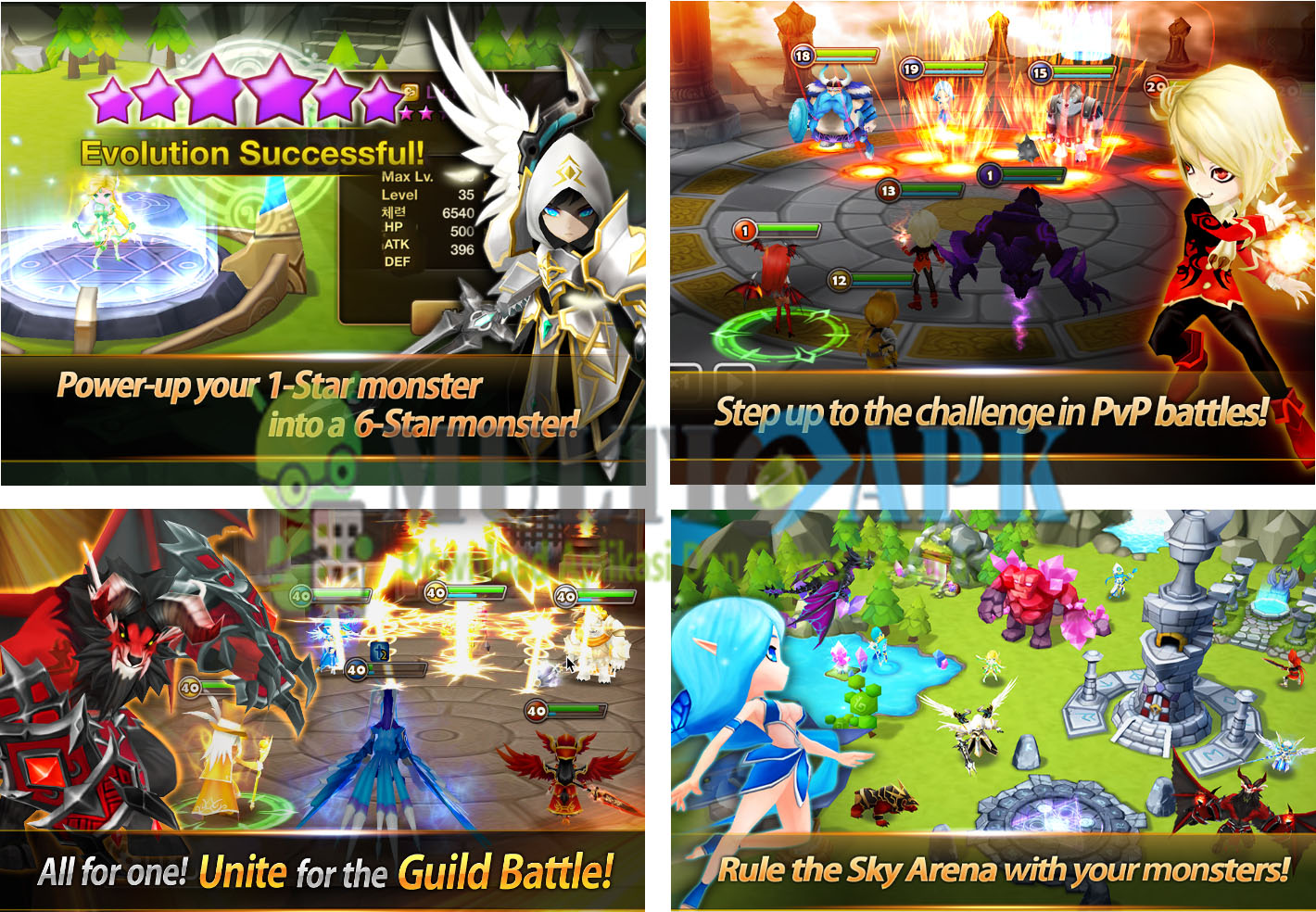 Summoners War Apk Mod v3.4.5 (Dumb Enemy)