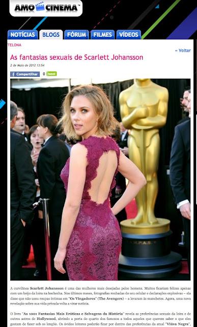 AMO CINEMA   As fantasias sexuais de Scarlett Johansson