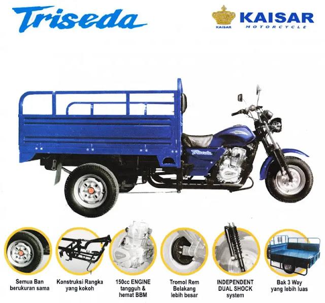 Kaisar Triseda Xp Motor Roda 3 yang Paling Bagus Untuk Aktivitas Anda