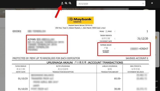 Cara Dapatkan Bank Statement (Maybank) Secara Online Dengan Mudah