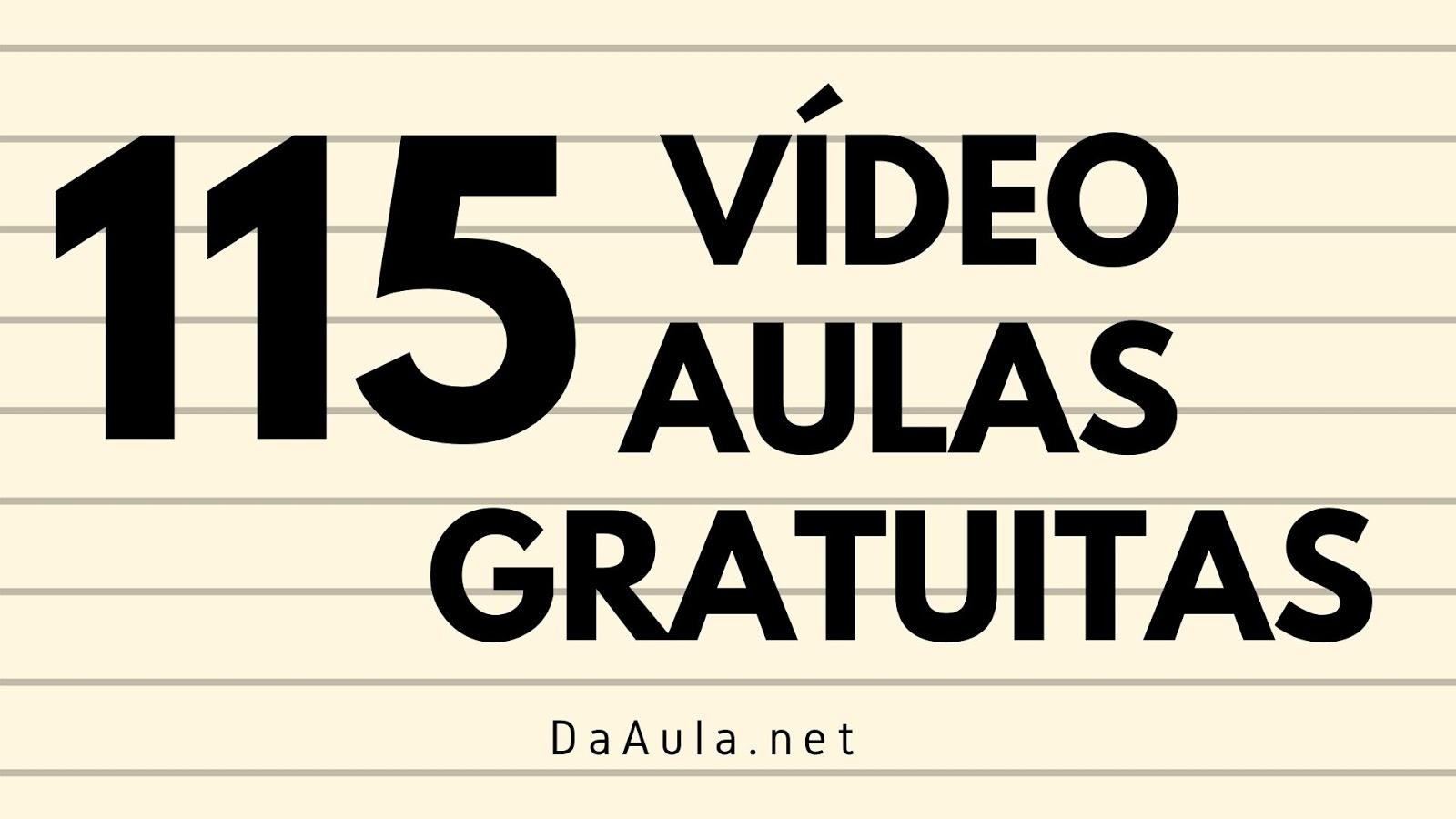115 vídeo aulas gratuitas de Língua Portuguesa