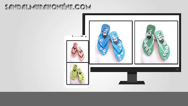 Sandal Jepit Wanita Motif WHY Langsung Dari Pabrik