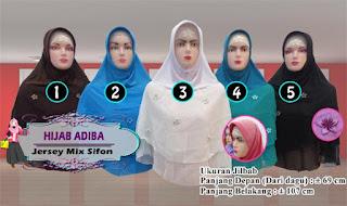 Hijab adiba harga murah dengan model yang style