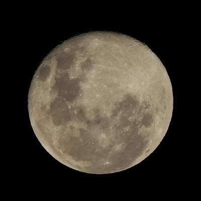 A Lua registrada em 08 de abril de 2020 pelas lentes deste escriba.