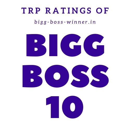 Bigg Boss 10 TRP Ratings