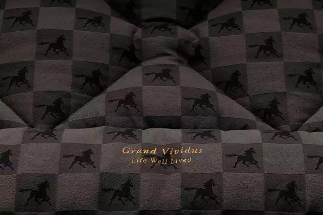 Kanadalı ünlü iç mimar Ferris Rafauli, Hastens'in at amblemli ekose kumaşını Grand Vividus'ta yeniden yorumladı.