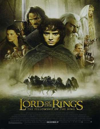 Poster Of The Lord of the Rings: The Fellowship of the Ring 2001 Hindi Dual Audio 800MB Extended BRRip 720p ESubs HEVC Free Download Watch Online downloadhub.in