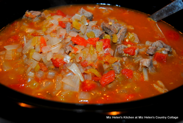 Slow Cooker Caldillo (Mexican Stew) at Miz Helen's Country Cottage
