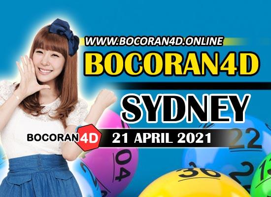 Bocoran Togel 4D Sydney 21 April 2021