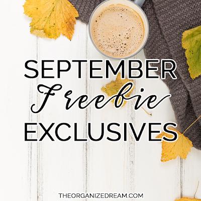 September Freebie Exclusives: Newsletter and Facbook group freebies. #freebie #free #printables #wallpapers