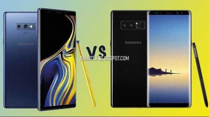 compare galaxy note 9 vs galaxy note 8