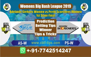 Who will win Today WBBL 2019, Semi Final Match Perth vs Adelaide - Cricfrog