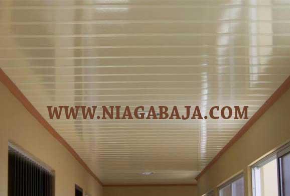 HARGA PASANG PLAFON PVC LAMPUNG PER METER 2020 NIAGA BAJA