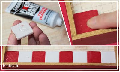 DIY damier en mosaïque