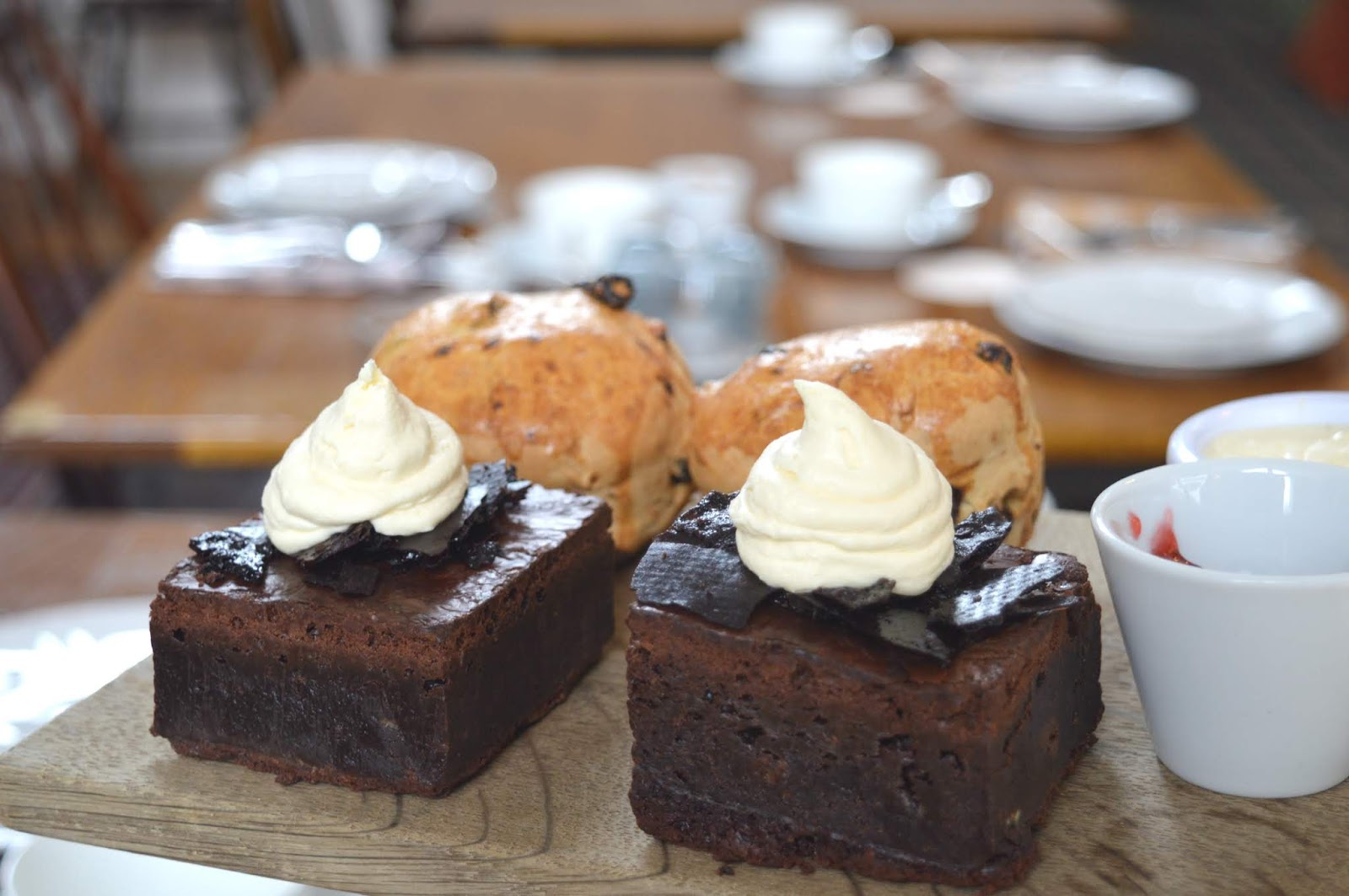 St Mary's Inn Northumberland - Rustic Afternoon Tea Brownies