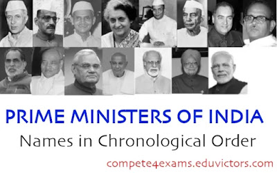 PRIME MINISTERS OF INDIA  (List Of names in Chronological Order)(#GeneralKnowledge)(#compete4exams)(#eduvictors)(#ssc)(#upsc)